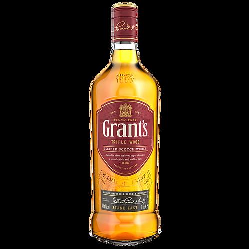 Grants Triple Wood Blended Scotch Whisky Btl 1lt