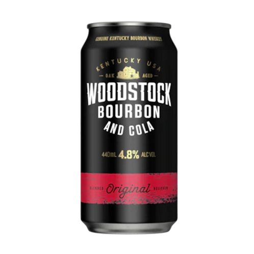 Woodstock Bourbon &  Cola 4.8% Can 375mL