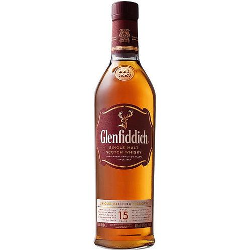 Glenfiddich Solera 15 Year Old Single Malt Scotch Whisky Btl 750mL