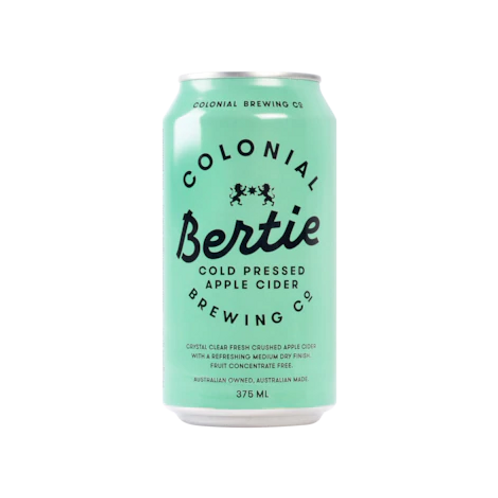 Colonial Bertie Cold Pressed Apple Cider 4.6% Can 375mL