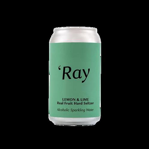 "Hop Nation ""RAY"" Lemon & Lime Hard Seltzer 4.5% Can 375mL"