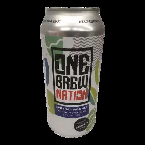 Nomad / Alefarm Collab One Brew Nation DDH Hazy Pale Ale 4.5% Can 440mL