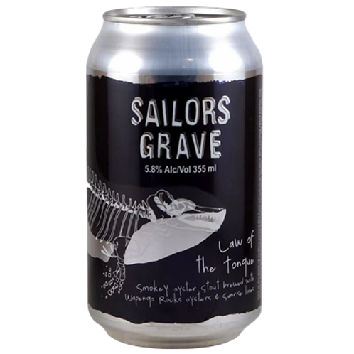Sailor Grave Law of the Tongue Oyster Stout 5.8% Can 355mL