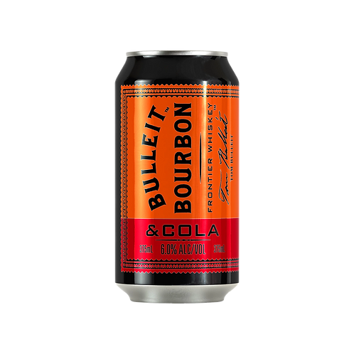Bulleit Bourbon Whiskey & Cola 6% Can 375mL