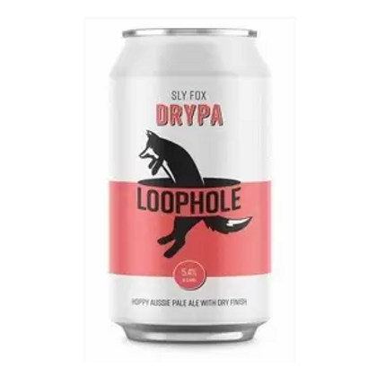 Loophole Brewing Co Sly Fox Dry Pale Ale 5.4% Can 375mL