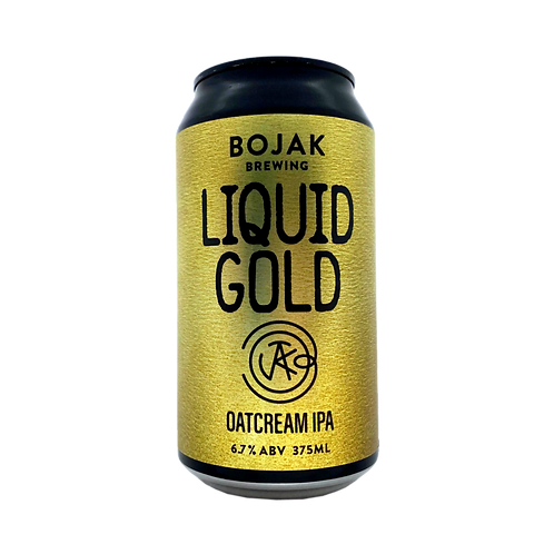 Bojak Brewing Liquid Gold Oatcream IPA 6.7% 375mL
