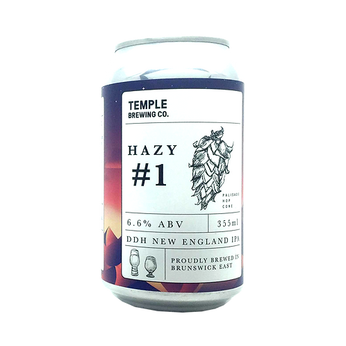 Temple Brewing Hazy # 1 DDH NEIPA 6.6% Can 355mL