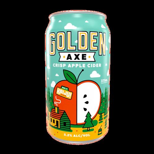 """Kaiju """" Golden Axe """"Crisp Apple Cider 5.2% Can 375mL"""