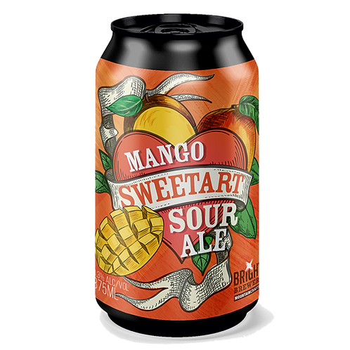 Bright Brewery Sweetart Mango Sour Ale 4.3% Can 375mL