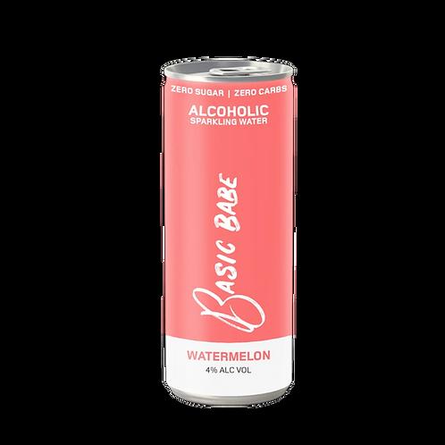 Basic Babe Watermelon Seltzer 4% Can 250mL