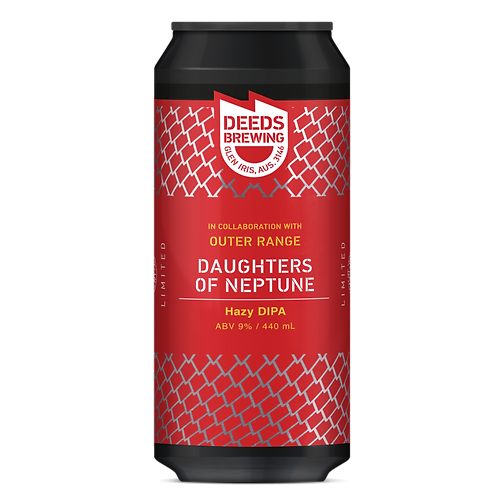 Deeds Brewing Daughters of Neptune Hazy DIPA 9% Can 440mL