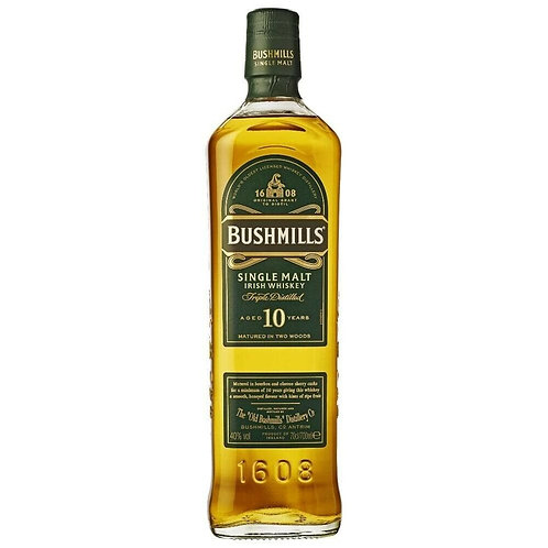 Bushmills 10 Year Old Single Malt Whisky 40% 700mL