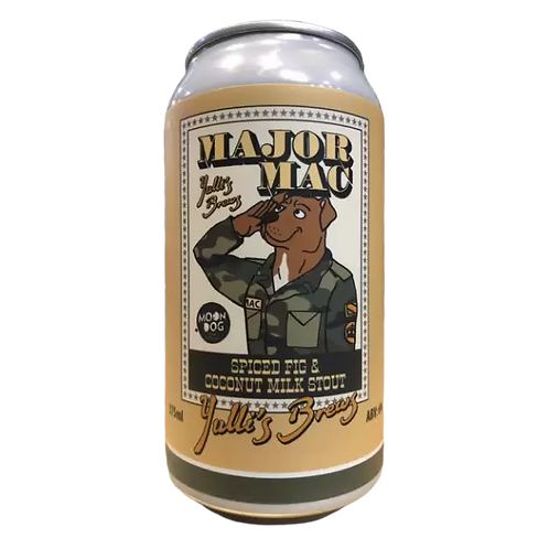Yuill's Brew / Moon Dog Major Mac - Spiced Fig Milk Stout 6% Can 375mL