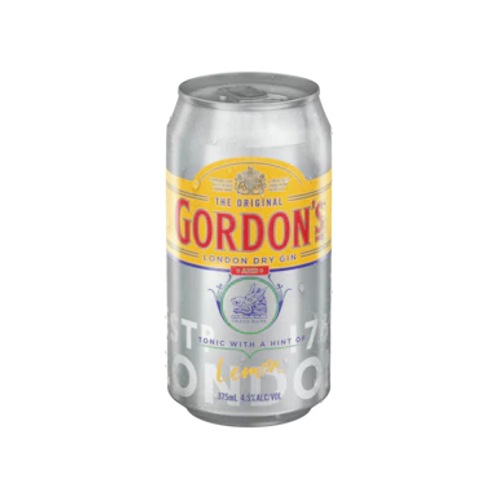 Gordon's Gin & Tonic with a hint of Lemon 4.5% Can 375mL