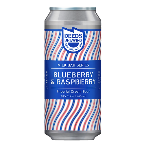 "Deeds Brewing ""Milk Bar Series"" Blueberry & Raspberry 7.7% Can 440mL"