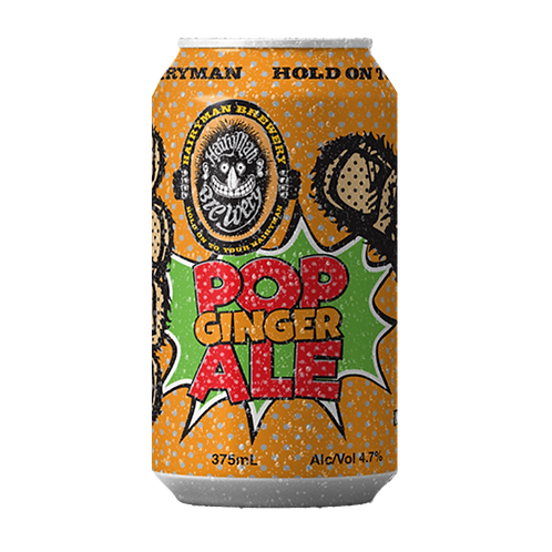 Hairyman Brewing Pop Ginger Ale 4.7% Can 375mL