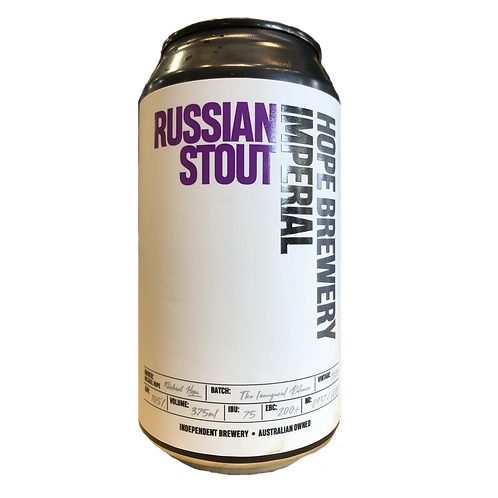 "Hope Brewery ""NEW"" Russian Imperial Stout 10.5% Can 375mL"