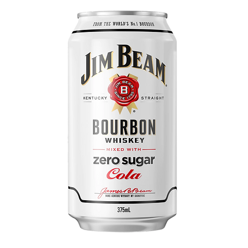 Jim Beam Bourbon & Zero Cola 4.8% Can 375mL
