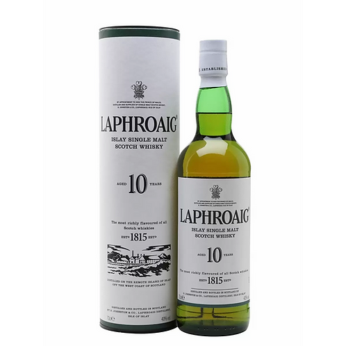 Laphroaig Islay Single Malt Scotch Whisky 10 Year Old 40% 700mL