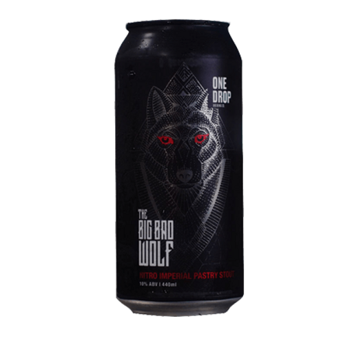 One Drop Brewing Co The Big Bad Wolf Nitro Imperial Pastry Stout 10% Can 440mL