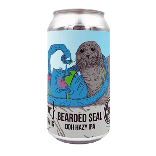 Hop Nation Bearded Seal DDH Hazy IPA 8% Can 375mL