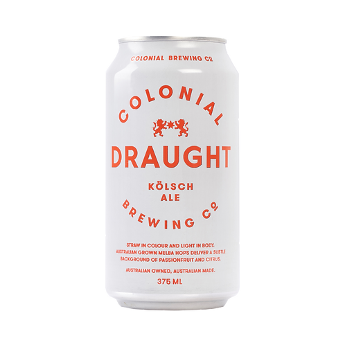 Colonial Draught (Kolsch Style) 4.8% Can 375mL
