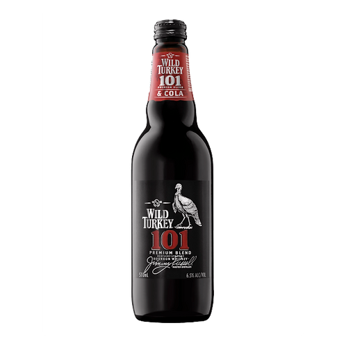 Wild Turkey 101 Premium Blend Bourbon & Cola 6.5% Btl 340mL