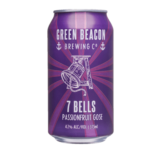 Green Beacon 7 Bells Passionfruit Sour Gose Style 4.2% Can 375mL