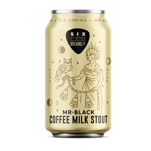Six String Mr Black Coffee Milk Stout 8% Can 375mL