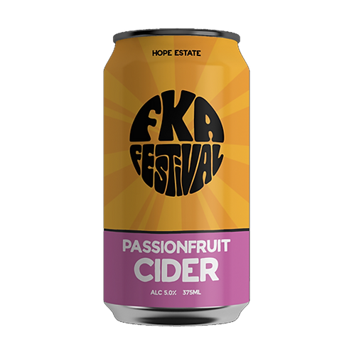 Hope Estate FKA Passionfruit Cider 5% Can 375mL