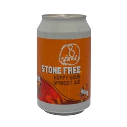 8 Wired Stone Fruit Hoppy Sour Apricot Ale 4.5% Can 330mL