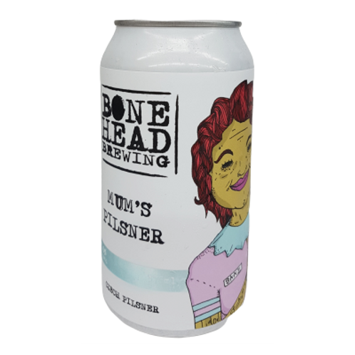 Bonehead Brewing Mum's Pilsner 5% Can 375mL