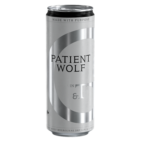 Patient Wolf Gin & Tonic Can 5.5% 250mL