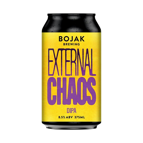 Bojak Brewing External Chaos Hazy Double IPA 8.5% 375mL