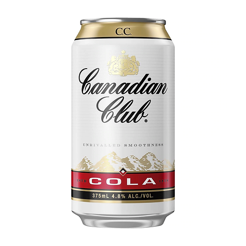 Canadian Club Whiskey & Cola 4.8% Can 375mL