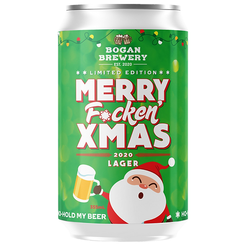 Bogan Brewery Merry F-cken Xmas Lager 4% Can 355mL