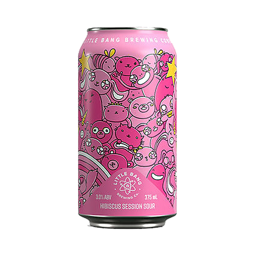 Little Bang The Pinkening Hibiscus Session Sour 3% Can 375mL