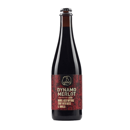 8 Wired Dynamo Merlot 2018 BA Imperial Stout 11% Btl 500mL