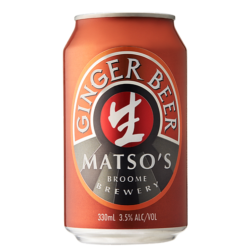 Matso's Ginger Beer 3.5% Can 330mL