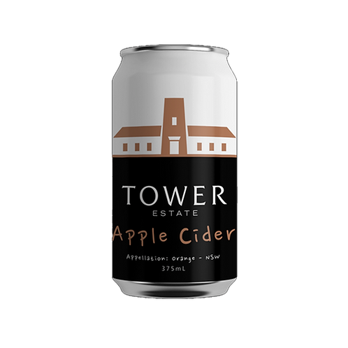 Tower Estate Estate Apple Cider 5% Can 375mL