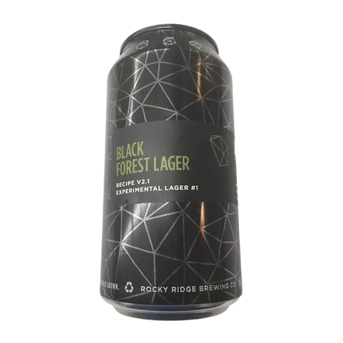Rocky Ridge Black Forest Experimental Lager 6.5% Can 375mL