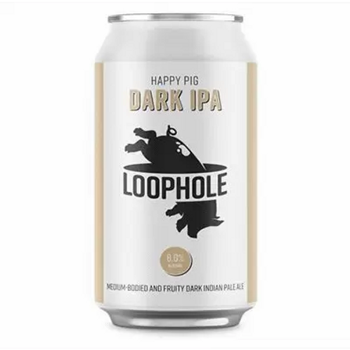 Loophole Brewing Co Happy Pig Dark IPA 6% Can 375mL