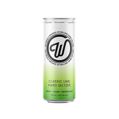 W Seltzer Classic Lime Hard Seltzer 4.3% Can 330mL