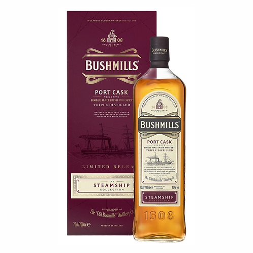 Bushmills Steamship Port Cask Irish Whisky 40% 700mL