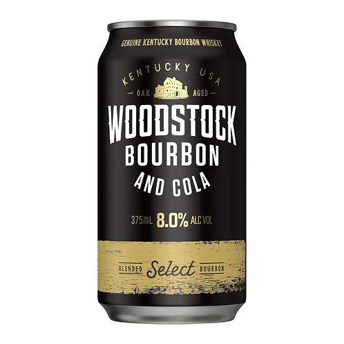 Woodstock Bourbon & Cola 8% Can 375mL