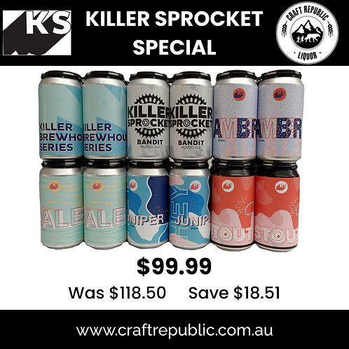Killer Sprocket 2021 Taste Local Slab Can 24's 375mL