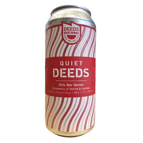 Deeds Brewing Milk Bar Series Strawberry with Vanilla Lactose 7.7% Can 440mL