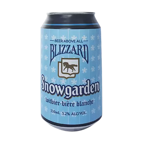 Blizzard Brewing Snowgarden Witbier 5.2% Can 330mL