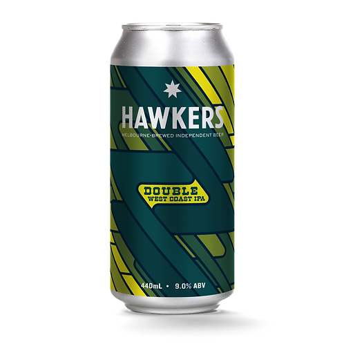 Hawkers Beer Double West Coast IPA 9% Can 440mL