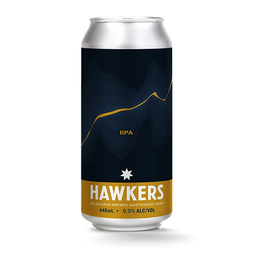 Hawkers Beer Double IPA 9% Can 440mL